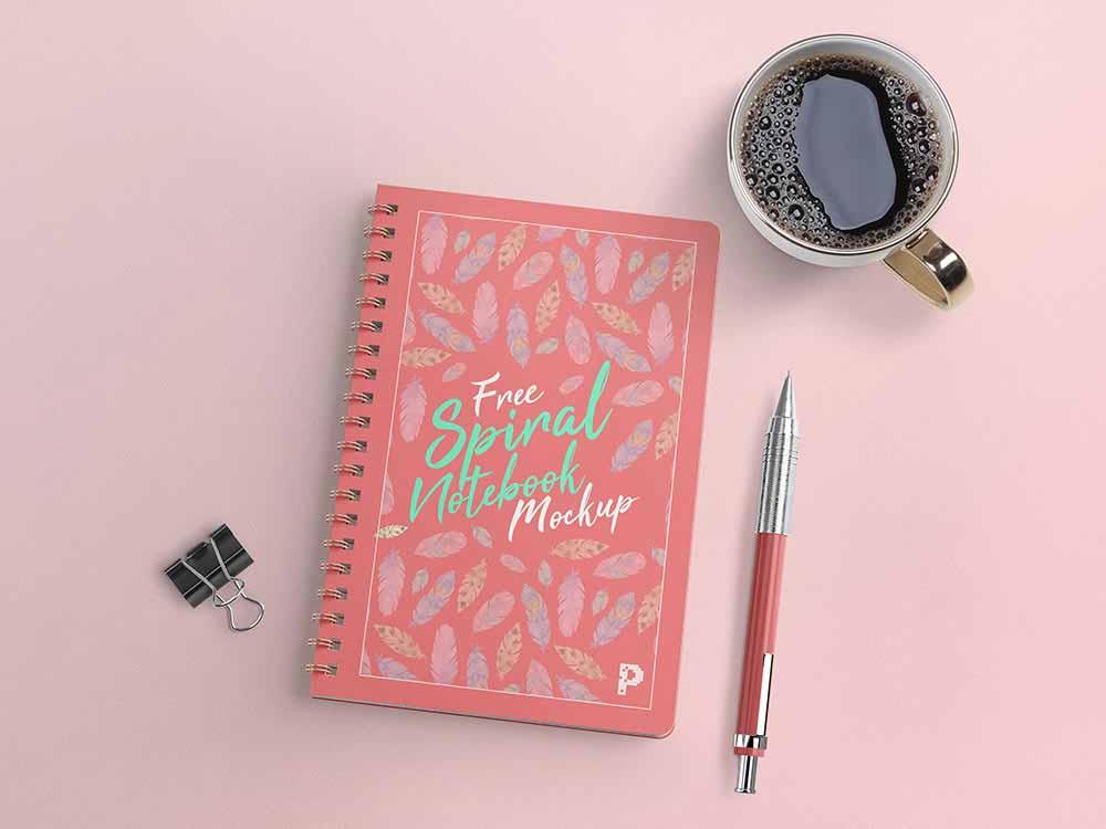 Minimal-Spiral-Notebook-Mockup