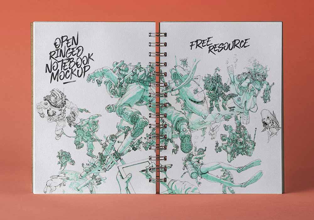 Open-Ringed-Sketchbook-Mockup