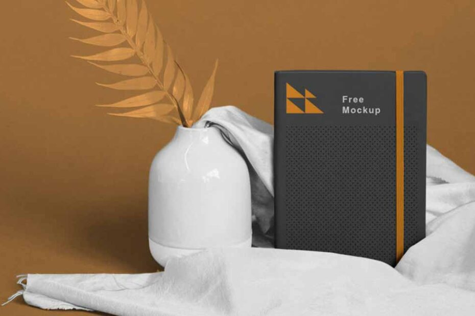 Free Realistic Notebook Mockup