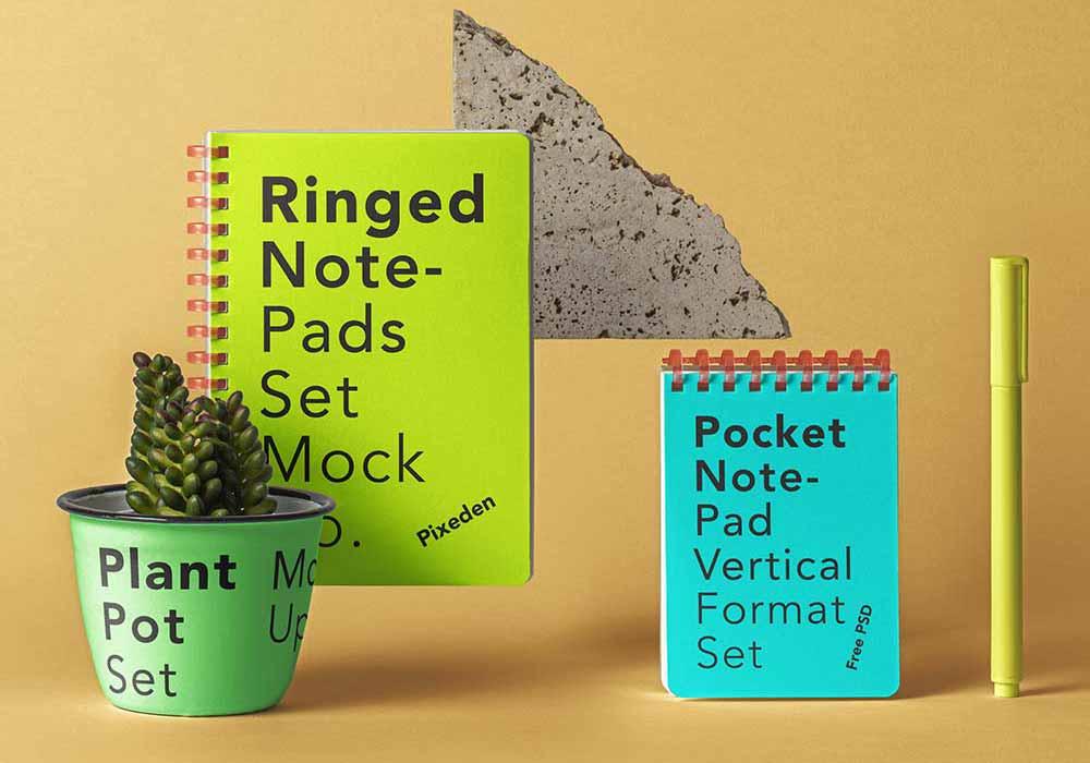 Ringed-Notepad-Set-Mockup