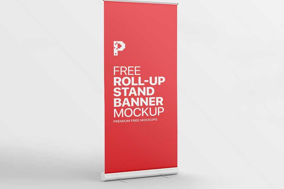 Roll-up Stand Banner Mockup