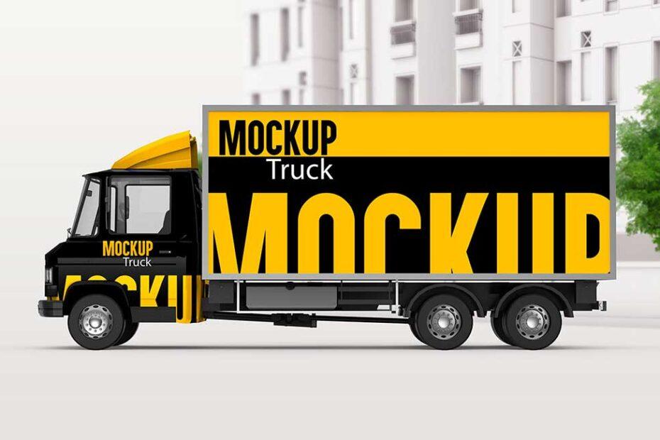 3D Truck Mockup